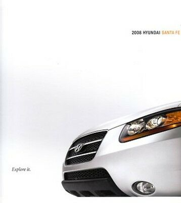 2008 08 Hyundai Santa Fe  original sales brochure MINT