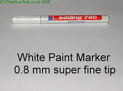 Edding 780 White Paint Pen 0.8mm plant label marker
