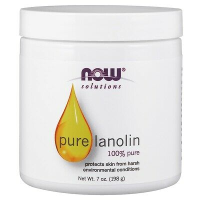 NOW Foods 100% Pure Lanolin 7 oz,Protects Chapped Skin, FRESH, FREE USA SHIPPING