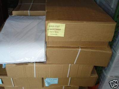"""1 CASE 10 REAMS PREMIUM WHITE TISSUE PAPER 4,800 SHEETS 17""""x27"""" PACKING STUFFING"""