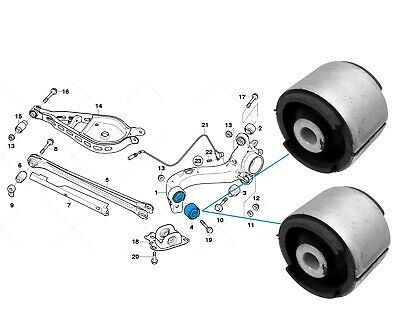Bmw M3 E36 E46 Rear Trailing Arm Bush Bushes Oem Febi Bilstien Germany X 2 New!