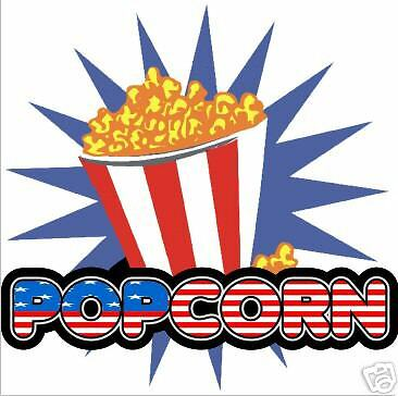 Popcorn Pop Corn Concession Fast Food Decal 10""