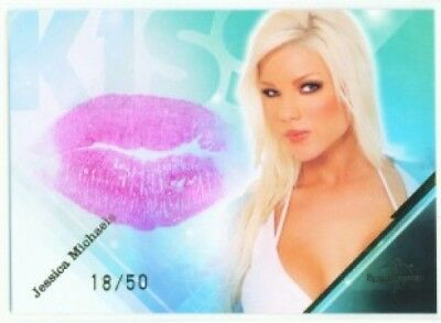 """Jessica Michaels """"kiss Card"""" Benchwarmer Limited 2009"""