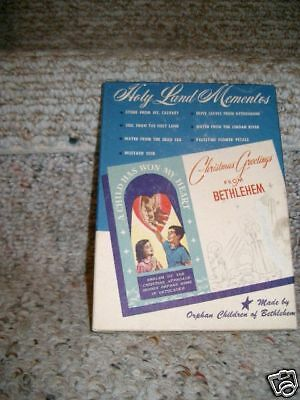 1959 Holy Land Momentos Christmas Greetings Bethlehem