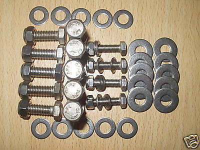 Land Rover Defender 90 S3 Stainless Steel Hexagon Hex Rear Crossmember  Bolts