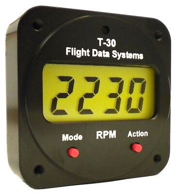 T-30 Electronic Tachometer Hourmeter Flight Timer