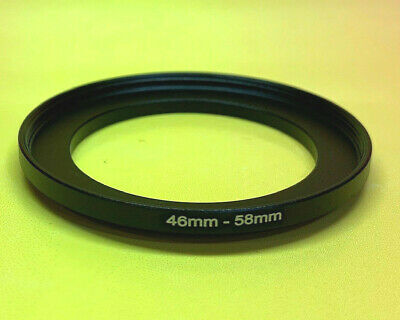 1(ONE) ADAPTER- FILTER RING 46mm to 58mm 46-58mm Step Up 46-58 BLACK METAL