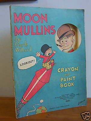 1932 MOON MULLINS Crayon & Paint Book by Frank Willard