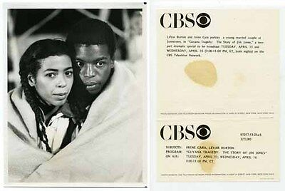 CBS Press Photo 7X9  Irene Cara  Levar Burton 1980