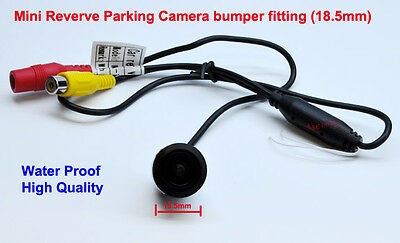 MiNi Night Rear View Parking Reversing Bumper Colour Camera with guide line PAL