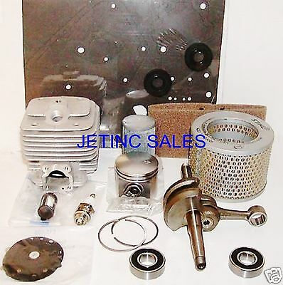 CYLINDER & PISTON KIT NIKASIL Fits STIHL TS350 47mm OVERHAUL KIT w/ CRANKSHAFT