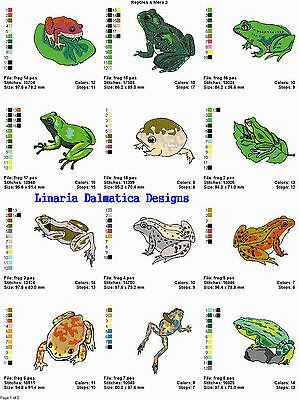 FROGS,REPTILES & MORE 3 (4x4)MACHINE EMBROIDERY DESIGNS