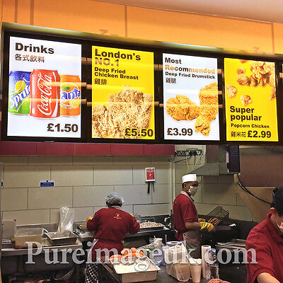 LED A2 50 X 70 X 20mm Slim Indoor illuminated Menu Snap Frame Poster Sign