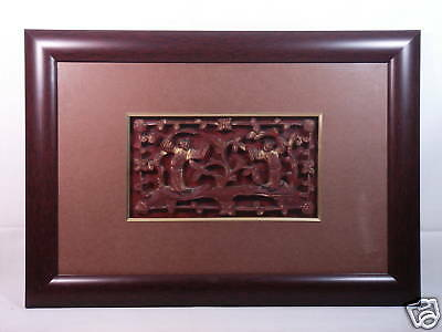 *Ship From U.S* 19th Century Circa Chinese Crafted Antique Wooden Panel In Frame