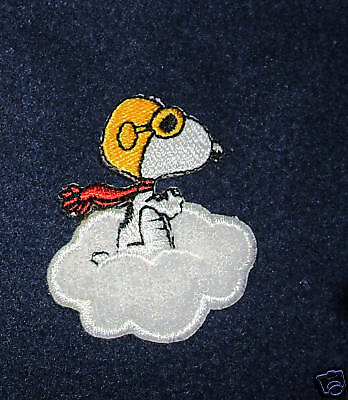 Snoopy Red Baron On A Cloud Embroidered Patch Iron On!!