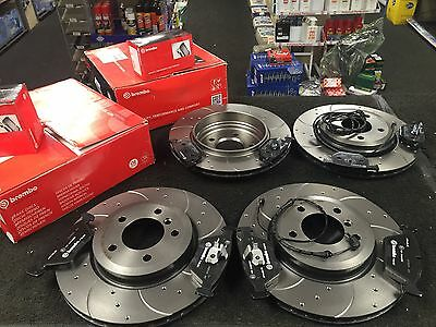 BMW  330i Ci D 330CI BREMBO REAR DIMPLED GROOVED BRAKE DISC