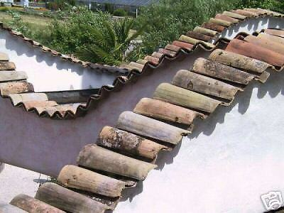 Antique Reclaimed French Mission Barrel Roof Tiles