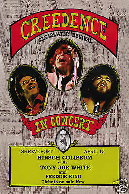 Creedence Clearwater @ Shreveport Concert Poster 1971