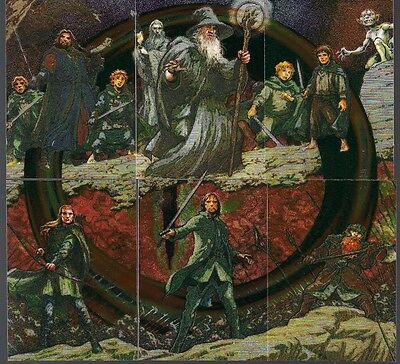 Lord Of The Rings Masterpieces Ser 1 Topps 2006 Etched Foil Puzzle Chase Set 1-6