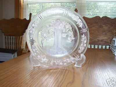 "depression glass Federal Sharon Cabbage Rose 9""plate NR"