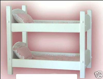 """American Girl Bitty Baby 18"""" Doll Amish Made Bunk Bed Wood Fully Assembled"""