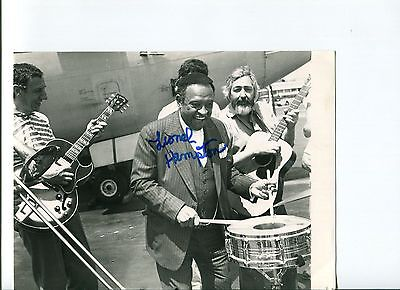 Lionel Hampton Jazz Bandleader Signed Autograph Photo
