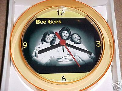 BEE GEES NOVELTY WALL CLOCK 7 inch 70's Legends *NEW*