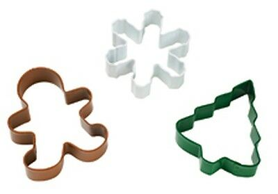 Wilton Christmas Metal Cookie Cutter Set 3 pc Holiday