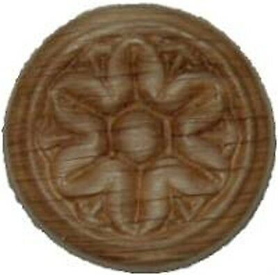 "OAK Embossed Wood Ornament 1"" Rosette   W35790"