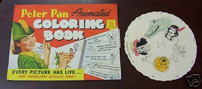 1943 Peter Pan Peanut Butter Animated Coloring Book