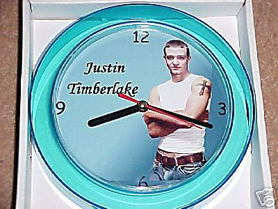 "JUSTIN TIMBERLAKE Novelty Wall Clock 7"" NEW  ""L@@K"""