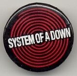 System of a Down black and red rock band Button Pin