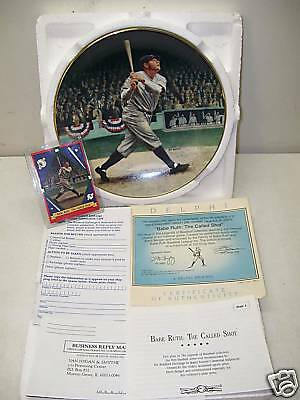 Babe Ruth The Called Shot Plate & Card New Loa 100%