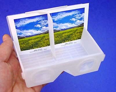 8 Folding stereo print 3d viewers & 96 stereoviews - NEW
