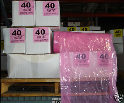 """""""PINK"""" Dry Cleaning Poly Garment Bags 40"""" 430bags/roll"""