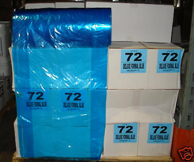 "Dry Cleaning 72"" BLUE Poly Garment Bags 200 bags/roll"