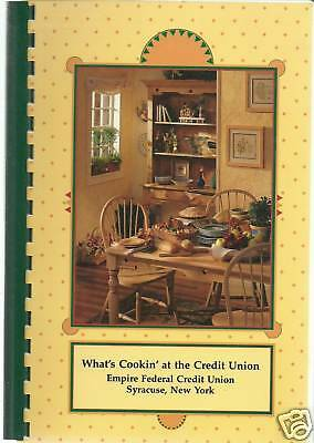 *SYRACUSE NY 1998 *WHAT'S COOKIN *RARE COOKBOOK *EMPIRE FEDERAL CREDIT & FRIENDS