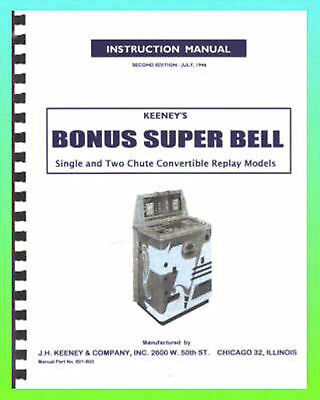 Keeney Bonus Super Bell Service Manual & Schematics
