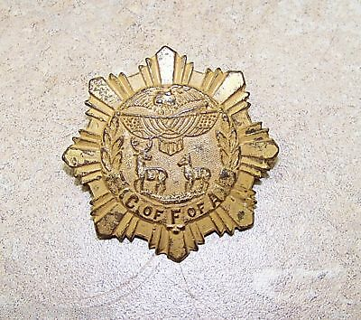 OLD COMPANIONS FORESTS AMERICA FRATERNAL BADGE MEDAL