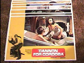 Cannon For Cordoba Lobby Card Set '70 Sexy Babe