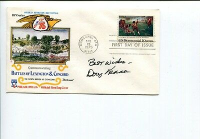 Doug Kenna Army Black Knights 1944 National Champ HOF Signed Autograph FDC