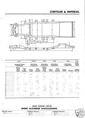 1971 Chevrolet SS NOS Frame Dimensions Front Wheel Alignment Specs