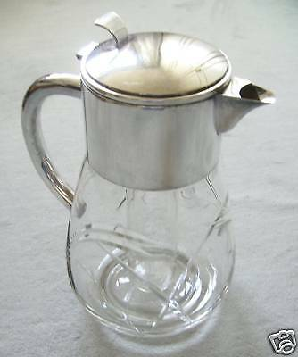 WMF Crystal Jug with Silver Plated mounted top