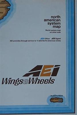 1973 Freight Maps AIR EXPRESS INTERNATIONAL WINGS & WHEELS North America World