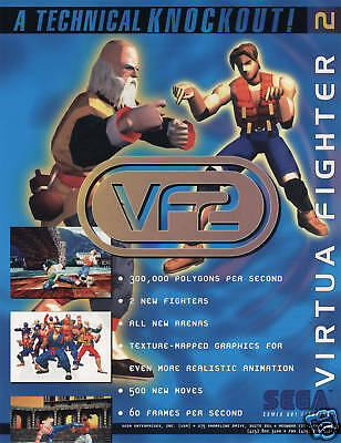 Arcade, Jukeboxes & Pinball 1995 Sega Sega Virtual On Video Flyer Mint To Be Distributed All Over The World