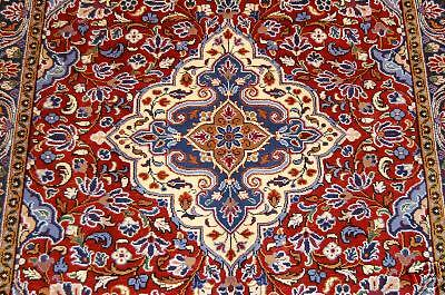 c1930s ANTIQUE COLORFUL BEAUTY PERSIAN QOME RUG 3.6x4.8
