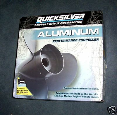 "Quicksilver #qa2124R  Al Prop 9"" X 7"" Pitch 3Rh New In Box"