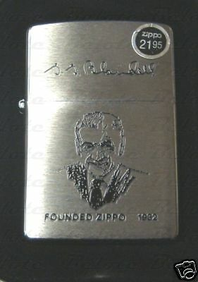 Zippo Founder Brushed Chrome Signature Lighter 200FL