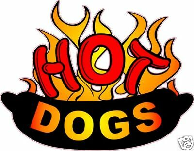 Concession Hot Dogs Hotdog Food Business Sign Decal 10""