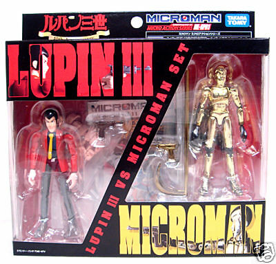Lupin III 3rd V Microman Set 40th ML-SP01 Takara Tomy Japan Ultra Rare
